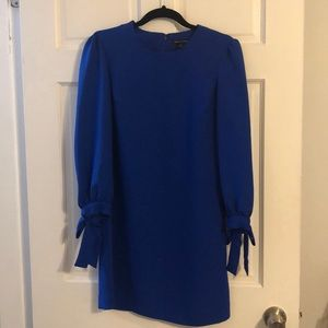 Bright blue long sleeved dress